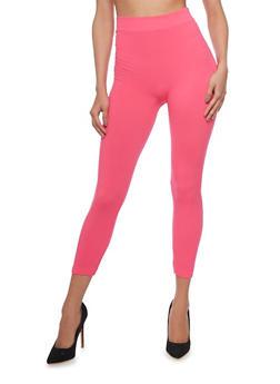 Solid Capri Leggings - 6067041451110