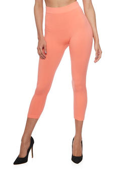 Solid Capri Leggings - 6067041451110