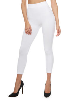 Solid Cropped Leggings - 6067041451115