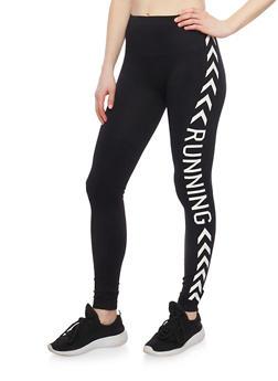 Running Graphic Leggings - 6069001442117