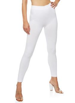 White Spandex Leggings - 6069041450340