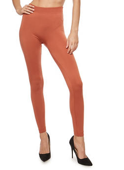 Seamless Leggings with Fleece Lining - 6069041450732