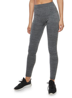 Charcoal Fleece Leggings - 6069041450734