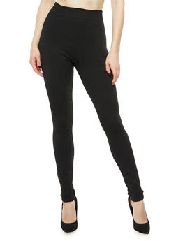 Terry Lined Leggings - 6069041454440
