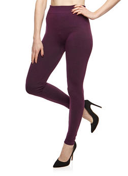 Terry Lined Leggings - 6069041454441