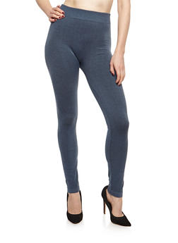 Terry Lined Leggings - 6069041454442