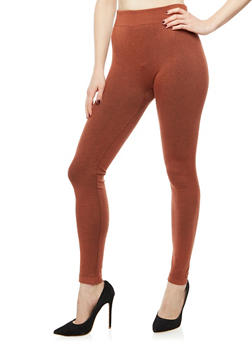 Terry Lined Leggings - 6069041454444