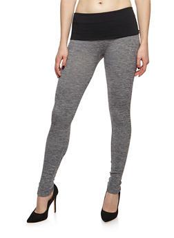 Fleece Two Tone Activewear Leggings - 6069059163225