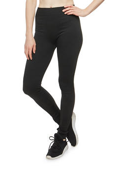 Terry Lined Leggings - 6069059164397