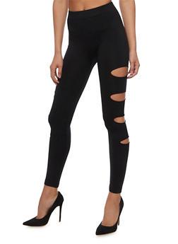 Cutout Side Leggings - 6069064870184