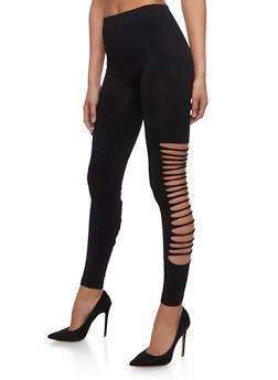 Lasercut Side Leggings - 6069064870186