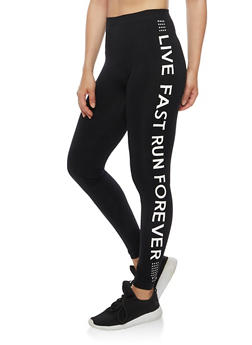 Live Fast Athletic Leggings - 6069064873006