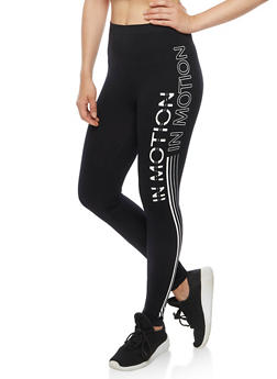 In Motion Graphic Athletic Leggings - 6069064873008