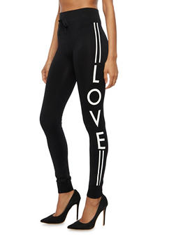Love Graphic Activewear Joggers - 6069064873010