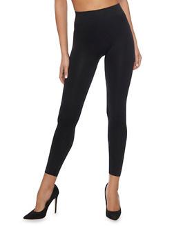 Solid Nylon Leggings - 6069064875550