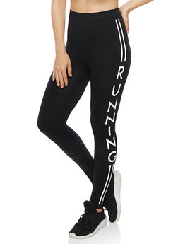 Running Graphic Athletic Leggings - 6069064877300