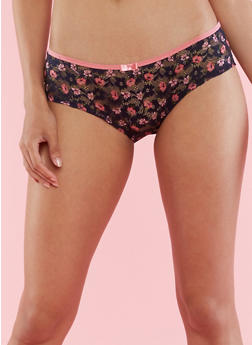 Floral Lace Hipster Panties - 6150035160675