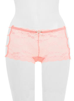 Caged Side Lace Boyshort Panties - 6150064873023