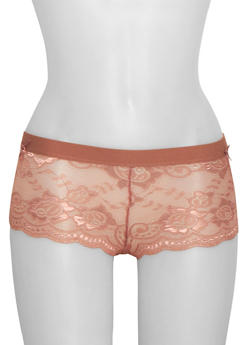 Lace Boyshort Panties - 6150068060268