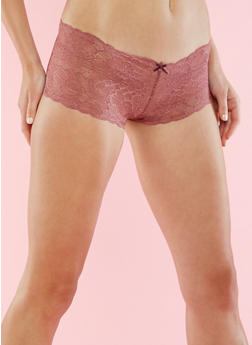 Scallop Lace Cheeky Boyshorts - 6150068060729