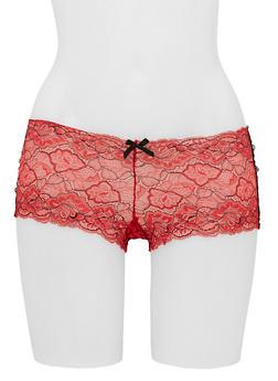 Floral Lace Boyshort Panty - 6150068069096