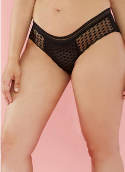 Plus Size Lace Hipster Panties - 6166059290196