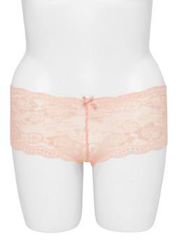 Plus Size Lace Boyshort Panties - 6166068060368