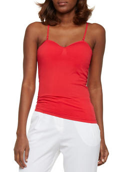 Padded Seamless Cami - B RED - 6201054260777