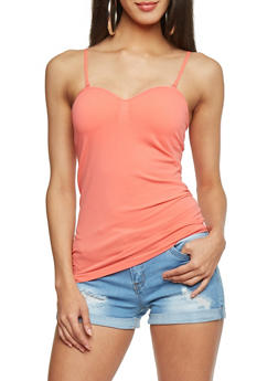 Padded Seamless Cami - CORAL - 6201054260777