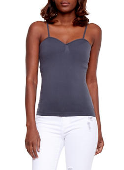 Padded Seamless Cami - DK GREY - 6201054260777