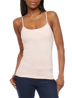 Adjustable Spaghetti Strap Cami Top - 6201054261001