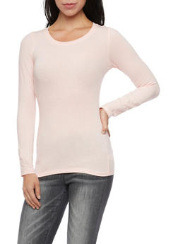 Long Sleeve Top with Scoop Neck - BLUSH - 6204054263800