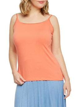 Plus Size Tank Top with Spaghetti Straps - 6241054263100