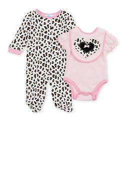 Baby Girl 3 Piece Set in Leopard Print - 6501004561250