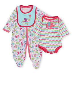 Baby Girl 3 Piece Printed Set - 6501054733068