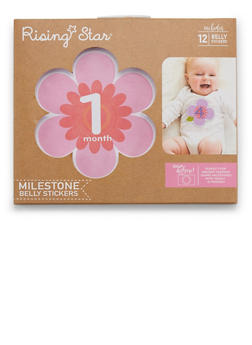 Baby Girl Milestone Belly Stickers - 6503067501829