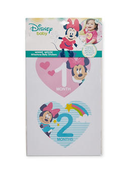 Baby Girl Minnie Mouse Milestone Belly Stickers - 6503067502031