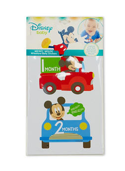 Baby Boy Set of 12 Mickey Mouse Milestone Age Belly Stickers - 6503067502032