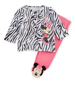 Baby Girl Minnie Mouse Jacket and Footed Leggings Set - 6506017728660
