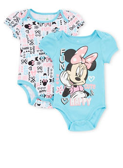 Baby Girl Minnie Mouse Bodysuit 2 Pack - 6506017728700
