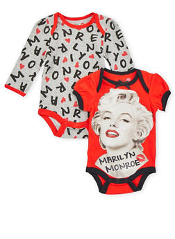 Baby Girl Graphic Bodysuits 2 Pack - 6506050091044