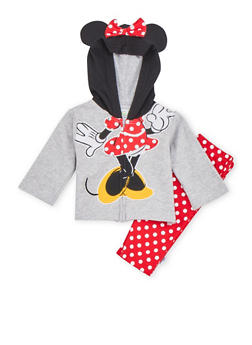 Baby Girl Minnie Mouse Hoodie and Sweatpants Set - 6506073458007