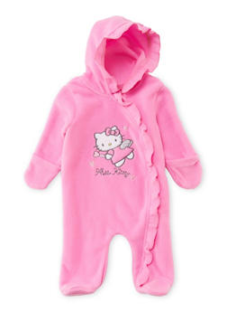 Baby Girl Hello Kitty Footed Bodysuit - 6509047731191