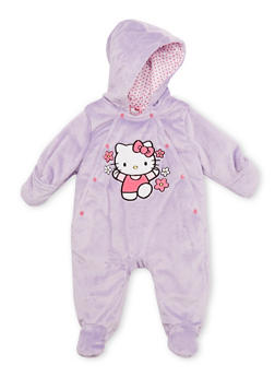 Baby Girl Hello Kitty Footed Bodysuit in Fleece - 6509073450005