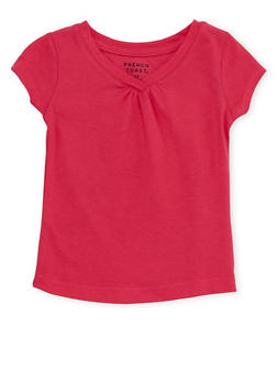 Toddler Girls French Toast Short Sleeve V Neck Tee - 6540068321154