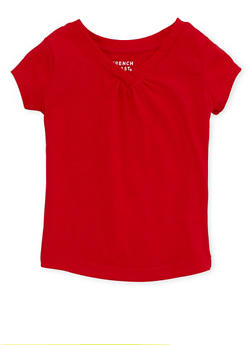 Toddler Girls French Toast V Neck Tee - 6540068321158