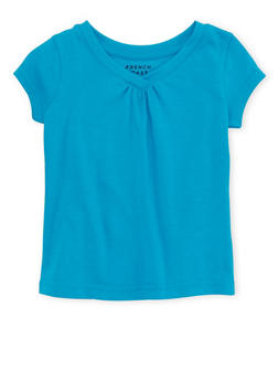 Toddler Girls French Toast Short Sleeve V Neck Tee - 6540068321160