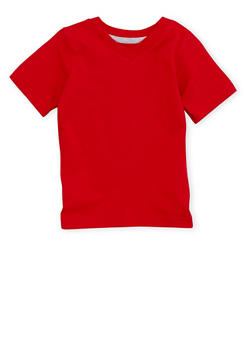 Toddler Boys French Toast Short Sleeve V Neck Tee - 6541068321106