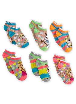Girls 4-6 Set of 6 Disney Frozen Ankle Socks - 6564059220600