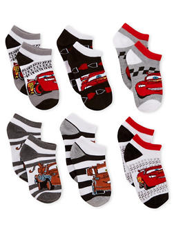 Boys 4-6 Cars Set of 6 Ankle Socks - 6565059220120
